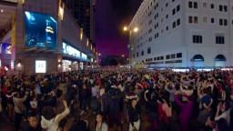 Lunar New Year Fireworks(香港農曆新年煙花), Nathan Rd, Tsim Sha Tsui, HK.